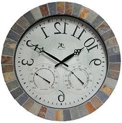 Infinity Instruments The Inca - In/Outdoor Clock with Slate
