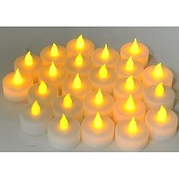 Instapark Flameless LED Tea Light Candles Battery Powered Re