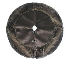 """Jaclyn Smith 48"""" Faux Fur & Velvet Christmas Tree Skirt"""