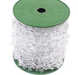 Joinwin New Hot 200 Feet Roll Clear Crystal Acrylic Party Ga