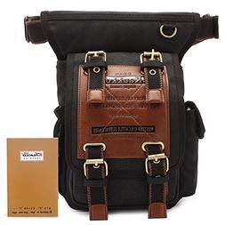 KAUKKO One Shoulder Sling Bag Hiking Waist Bag Vintage Canva