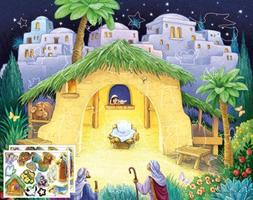 Kid's Nativity Sticker Advent Calendar