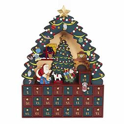 Kurt Adler Christmas Tree 24-Piece Advent Calendar, 16-Inch