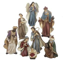 Kurt Adler Resin Nativity Figurine Set, 6.25-Inch, Set of 8