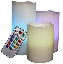 Battery Operated LED Flameless Candles - Vanilla Scented Set