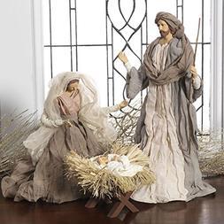 Large Holy Family Christmas Nativity Set, 3 Pieces, 17.5 Inc