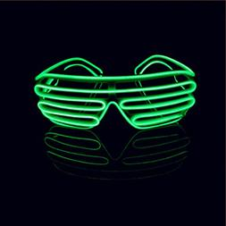 Lerway Neon El Wire LED Light Up Shutter Glasses + Voice Con