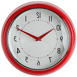 Lily's Home Retro Kitchen Wall Clock, Large Dial Quartz Time