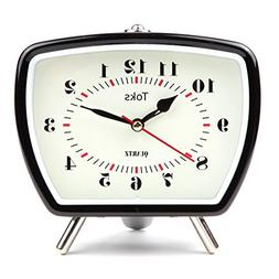 Lily's Home Vintage/Retro Inspired Analog Alarm Clock, Bed