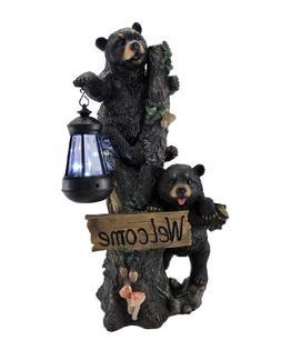 """""""Little Rascals"""" Climbing Bear Cubs Solar Light Welcome Stat"""