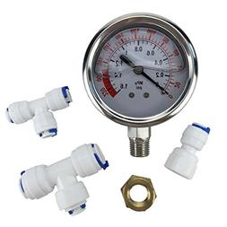 Malida The Water Filter Water Stainless Pressure Gauge For A