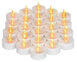 Mars Battery Operated Candles 24 Yellow Flickering LED Candl