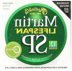 Martin MSP7600 SP Lifespan 92/8 Phosphor Bronze Acoustic Str