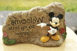 Mickey Mouse Welcome To My Little Garden! - Garden Rock