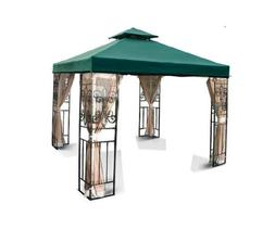 NEW 10' x 10' TWO TIER REPLACEMENT GAZEBO CANOPY TOP COVER S