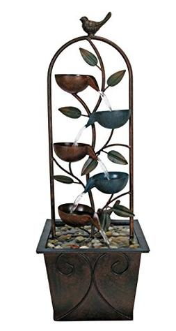 Nature's Garden Cascade Cups Metal Fountain