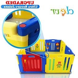 New Improved Baby Kids Safety Playpen 8 Panel Play Center Ho