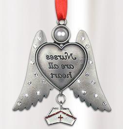 Nurse Angel - Nurses are all Heart Angel Ornament - Hanging