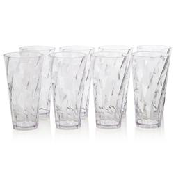 Optix Premium Quality Plastic 20-ounce Water Cup Tumblers |