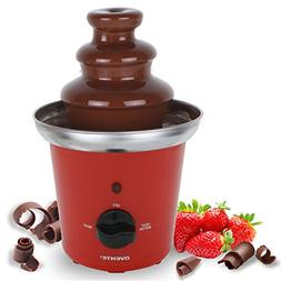 Ovente 2-Tier Chocolate Fountain Stainless Steel, 9 inch, Re