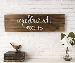 Personalized Family Name Sign Personalized Wedding Gifts Wal