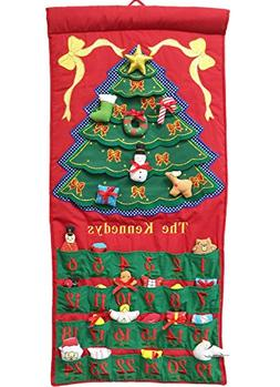 Pockets of Learning, Personalized Fabric Christmas Tree Adve