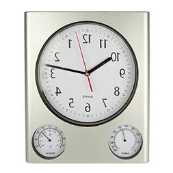 Poolmaster 52602 Clock/Thermometer/ Hygrometer - Silver