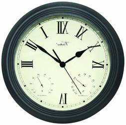 "Poolmaster 52605 12"" Clock/Thermometer/ Hygrometer - Black"