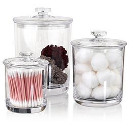 STORi Premium Quality Clear Plastic Apothecary Jars | Set of
