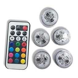 Qicai H Flameless LED Tea Lights, Multi Color Option Battery