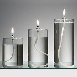 Refillable Glass Unscented Pillar Candle Gift Set of 3 - Use