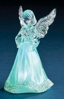 Roman 121446 Figurine Led Little Angel Tricolor - 3.5 in.