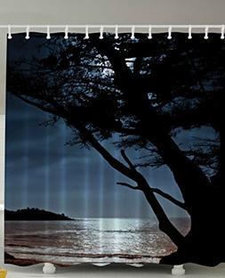 Romantic Landscape Dark Late Night Home Decor Lonely Tree Vi