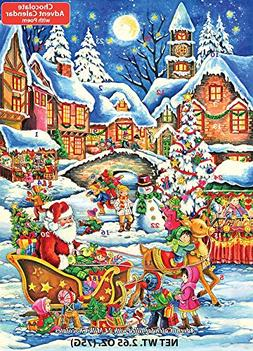 Santa's Here Chocolate Advent Calendar 2.65 oz