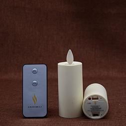 "Set of 2 Luminara Votive Flameless Candles:  1.75""x3"" Ivory"