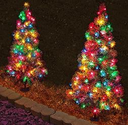 Set of 4 - 3' Tall Artificial Pathway Christmas Trees for In