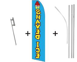 Shaved Ice Quantity 3 Super Flag & Pole Kits