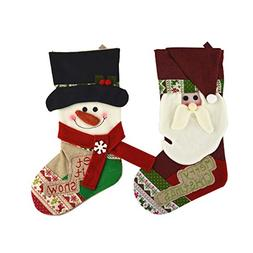 Shorven Christmas Stockings Socks Decorations Candy Gift Bag