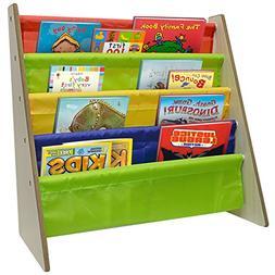 Sorbus Kids Bookshelf - Bright Primary Color Pockets Toddler