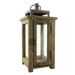 Stonebriar Decorative Wooden Candle Lantern, Use As Decorati