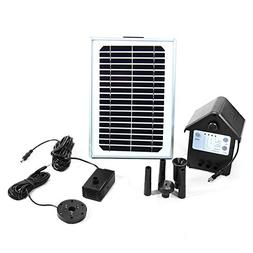 Sunnydaze 5W Solar Pump and Panel Outdoor Fountain Kit With