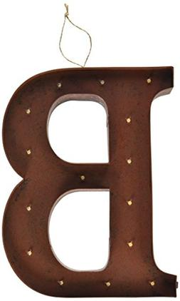 "The Gerson Company ""B"" LED Lighted Metal Letter with Rustic"