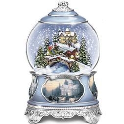 Thomas Kinkade Jingle Bells Christmas Musical Snowglobe by T