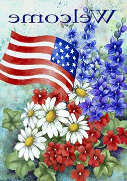 Toland Home Garden Patriotic Welcome 28 x 40 Inch Decorative