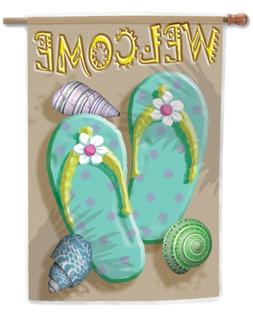 Toland - Welcome Flip Flop - Decorative Double Sided Welcome