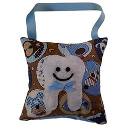 Tooth Fairy Pillow Keepsake for Boy or Girl Light Blue and B