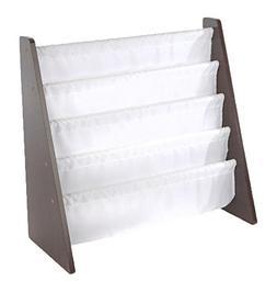 Tot Tutors Kids Book Rack Storage Bookshelf, Espresso/White