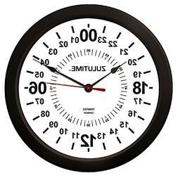 "Trintec 14"" 24 Hour Military Wall Clock in White ZT24HR14-W"