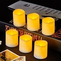 VONGEM Indoor and Outdoor Flickering Flameless Votive Candle