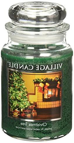 Village Candle Christmas Tree 26 oz Glass Jar Scented Candle